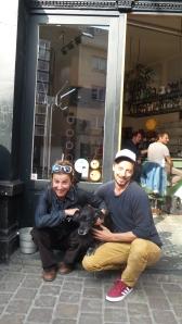 Jorinde & Ravelin And the dog Jazzy <3